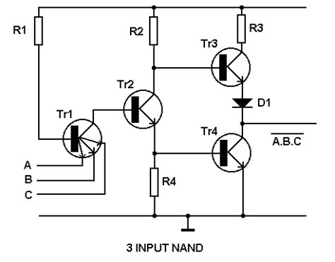 transistor logic gate tutorial transistor transistor logic tutorial circuits combination logic electronic hobby projects