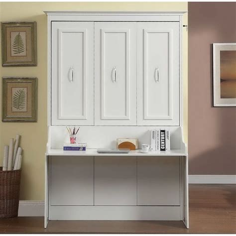 murphy bed wall unit with desk gabriella murphy bed with desk in white by mdh