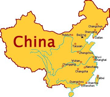 china map simple
