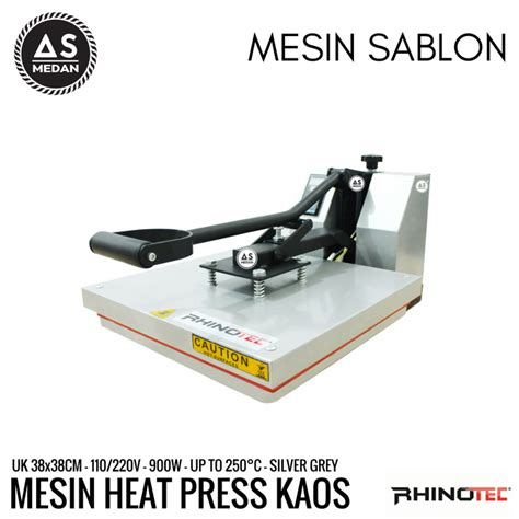 Mesin Bordir Medan mesin heat press rhinotec as medan