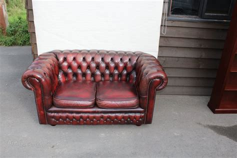 red leather 2 seater sofa antiques atlas red leather 2 seater chesterfield sofa