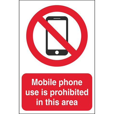 mobile phone is mobile phone prohibition signs prohibitory construction