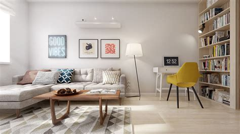 scandi living room a midcentury inspired apartment with scandinavian tendencies
