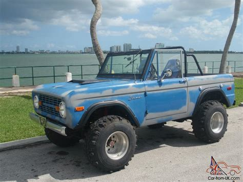 old bronco jeep 1973 ford bronco original paint offroad classic vintage