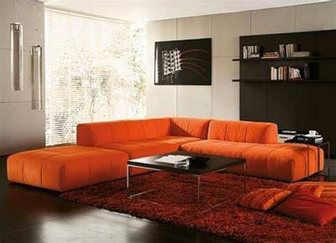 sofa orange color sofa orange color ev 3338 contemporary sectional sofa in