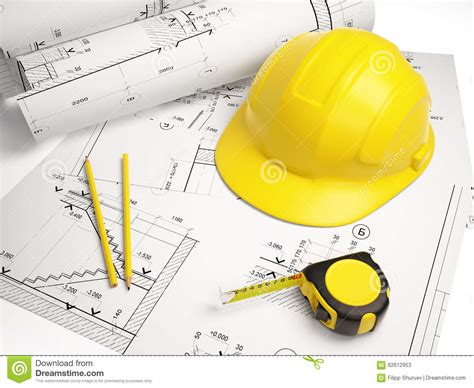 design for manufacturing tools architectural drawings with construction tools stock