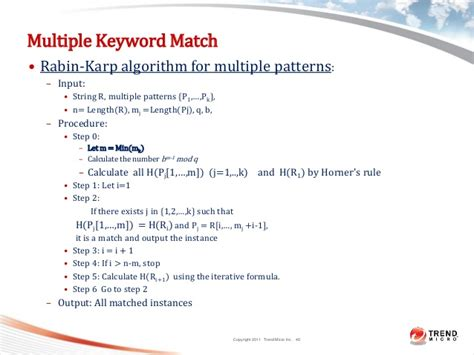 fast multiple string pattern matching algorithm dlp systems models architecture and algorithms