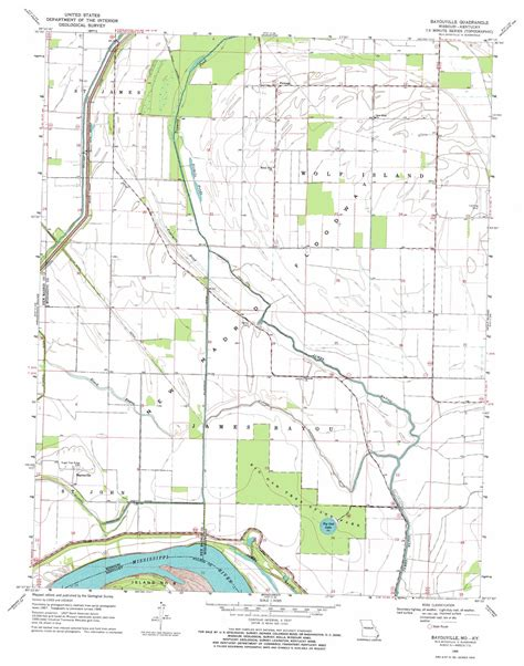 map missouri and kentucky bayouville topographic map mo ky usgs topo 36089f3