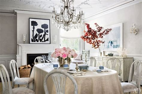 Architectural Digest Dining Rooms by Whitewashed Dining Chairs Transitional Dining Room