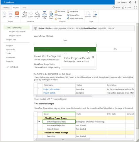 show workflow visualization on status page how to create a project server workflow for demand management