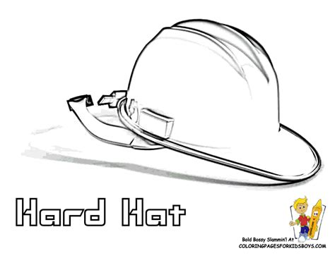 hard hat coloring page coloring pages
