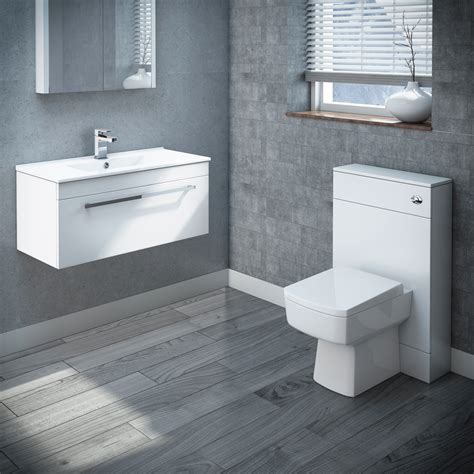Nova 800mm wall hung vanity basin with wc unit cistern amp pan online