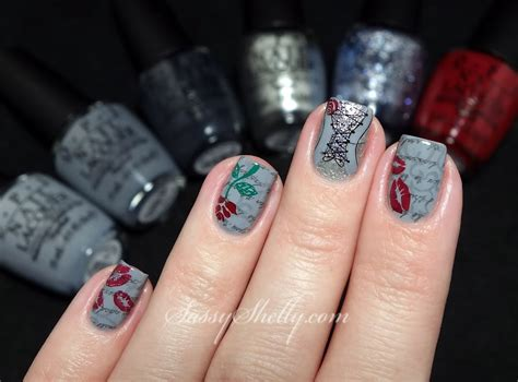fifty shades of grey nails easy nail art tutorial 50 shades of digit al dozen does patterns on patterns fifty shades of
