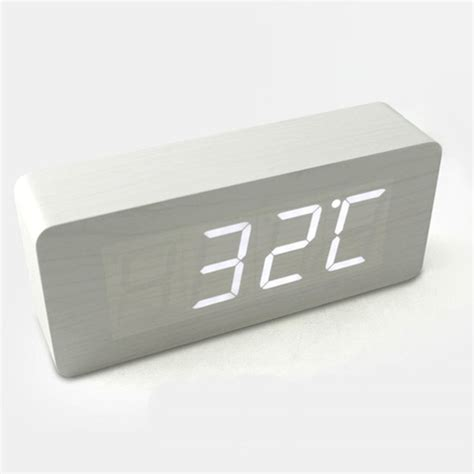 hito wood grain led alarm clock contemporary alarm