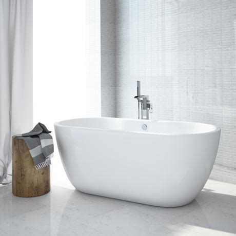 freestanding modern bathtubs luxury modern double ended curved freestanding bath at victorian plumbing uk