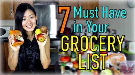 Must Haves For 2007 Your Shopping List by 7 Must Grocery List