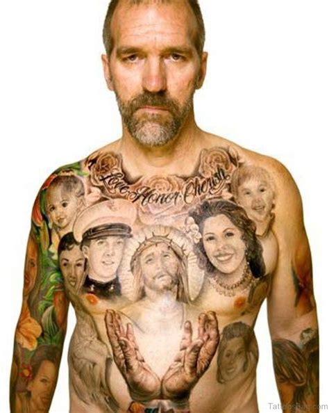 tattoo family photography 70 elegant portrait tattoos for chest