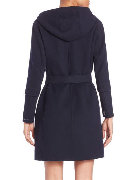 Maxmara Blue 1 max mara cube collection hooded wool coat in black lyst