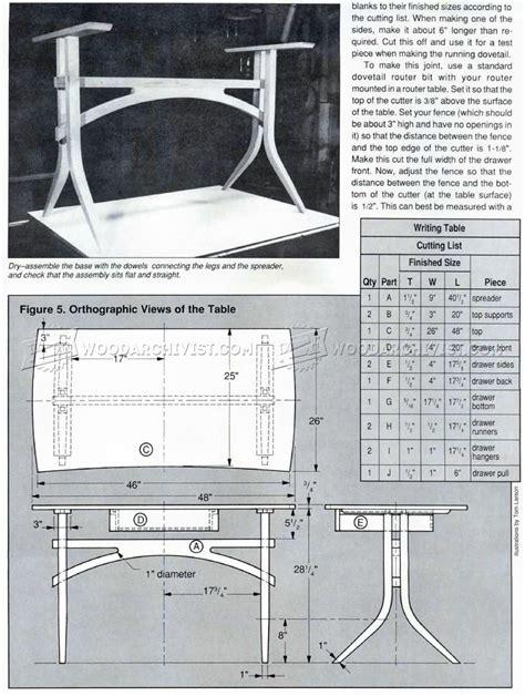 writing desk woodworking plans writing desk plans woodarchivist