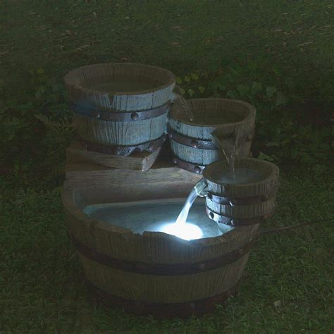 Outdoor Water Fountains With Lights Hardware Sales Astonica Outdoor Garden Water 4 Tier W Lights