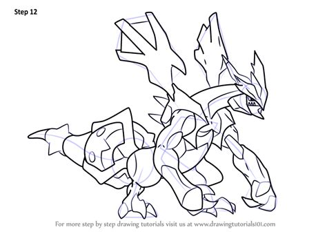 pokemon coloring pages kyurem learn how to draw black kyurem from pokemon pokemon step