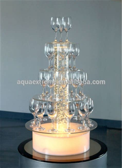 acrylic water bubble light champagne display stand wedding decoration buy champagne tower