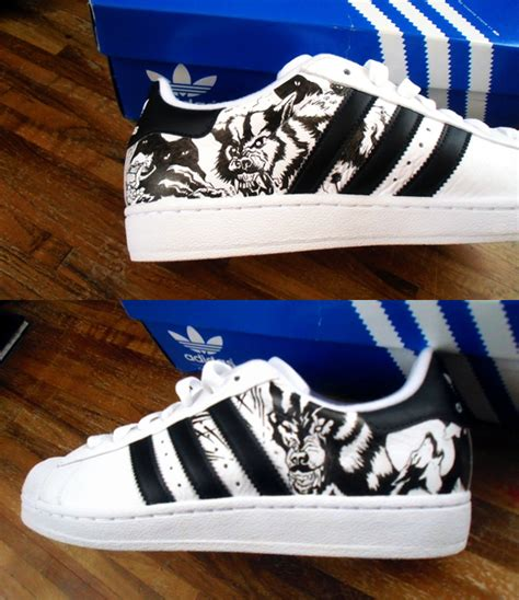 customized shoes custom shoes adidas by kedart on deviantart