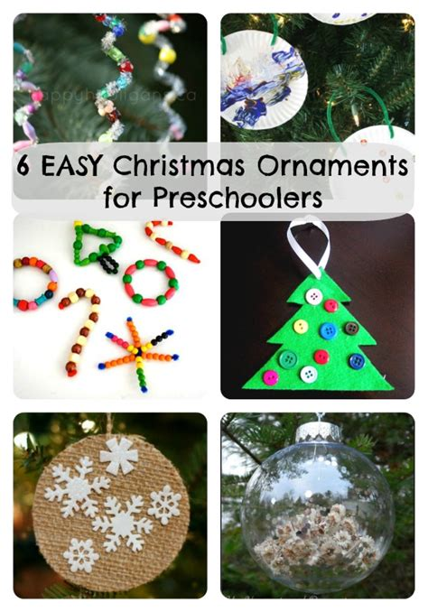 how to make christmas decorations at home easy 6 easy christmas ornaments for preschoolers to make how