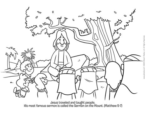 jesus preaching coloring page sermont on the mount paul preaching in athens coloring page of jesus