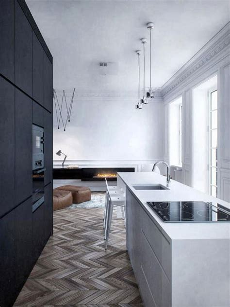 Schwarze Kuche 3200 by Leuchtend Grau Interior Magazin Celebrating Soft
