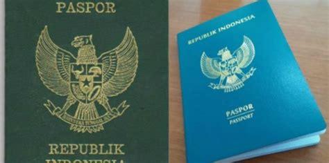 design paspor baru indonesia kelebihan wajah baru paspor indonesia