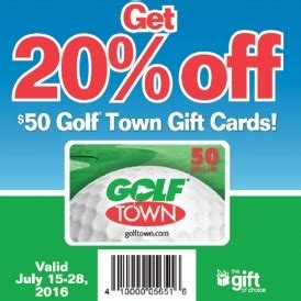 Where Can I Buy Chapters Gift Cards - 20 off golf town gift cards loblaws canada