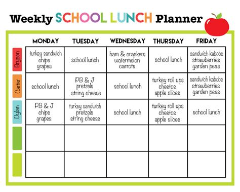 school lunch calendar template search results for menu plan weekly blank calendar 2015