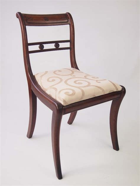 vintage dining chairs set of six antique regency mahogany dining chairs for sale