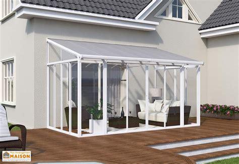 veranda terrasse v 233 randa en polycarbonate couv terrasse blanche palram