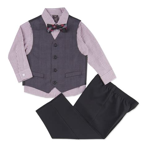 Plaid Bow Shirt dockers infant toddler boy s vest shirt bow tie