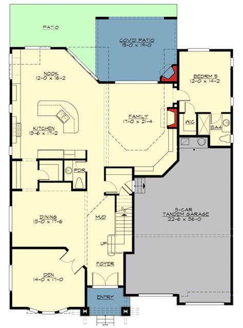 mission style in two versions 36346tx 2nd floor master suite butler walk in pantry cad 5 bed craftsman with outdoor living 23549jd 2nd floor