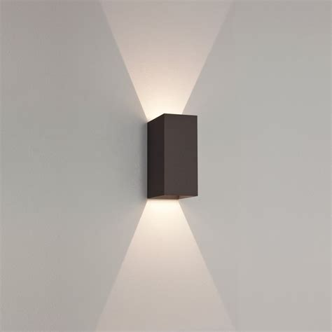 led outdoor wall light astro 7061 oslo 160 black exterior led wall light at