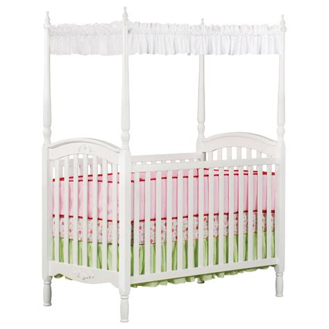 Crib With Canopy delta children lil princess canopy crib white baby