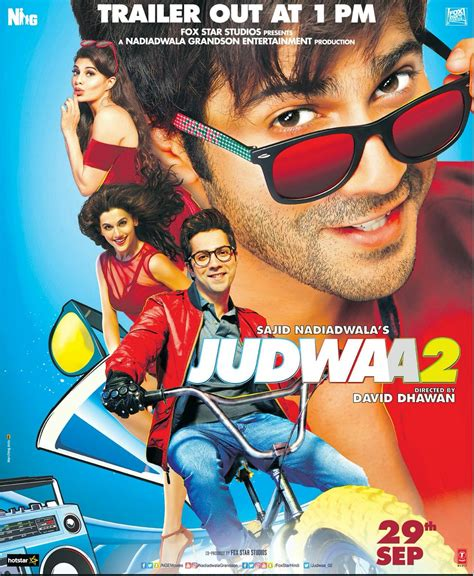 film full movie judwaa 2 check out the brand new poster of judwaa 2 trailer out at