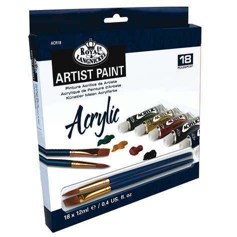 acrylic painting set acrylic artist paint set craftyarts co uk