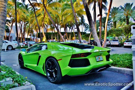 Lamborghini Of Florida Lamborghini Aventador Spotted In Miami Florida On 04 12 2013