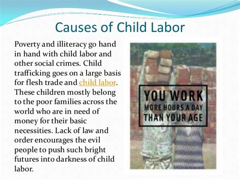 Child Labor Essay Causes And Effects by Causes Of Child Labour Driverlayer Search Engine