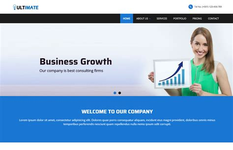 Business Responsive Html Web Template Free Download Firm Responsive Website Template