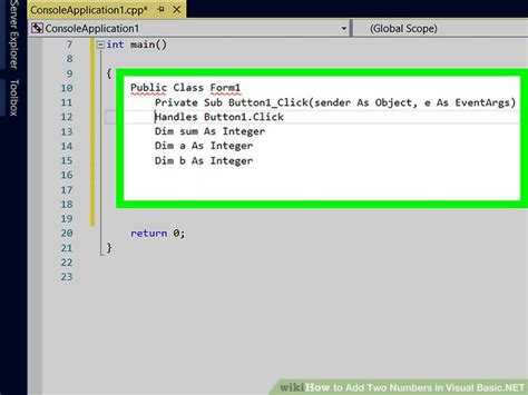simple visual basic program to add two numbers how to add two numbers in visual basic net 9 steps