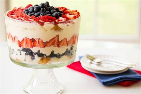 july 4th recipe red white and blue trifle dessert red white blue berry trifle
