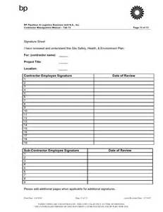 environmental health and safety plan template site specific safety health and environmental plan