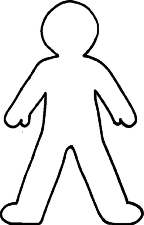 human figure template printable blank person template cliparts co