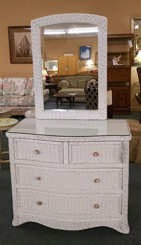 white wicker dresser mirror delmarva furniture consignment