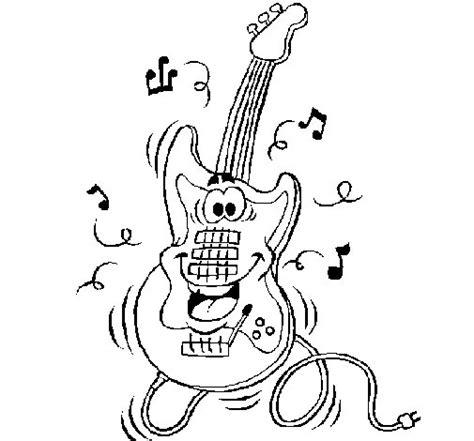 imagenes de guitarras rockeras para colorear dibujo de guitarra el 233 ctrica para colorear dibujos net